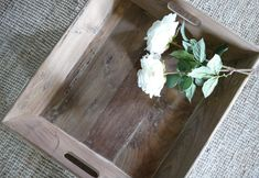 These teak wood beauties are suitable for Serving Tray food on or decorating with candles. The wood comes from old beams used to support buildings.