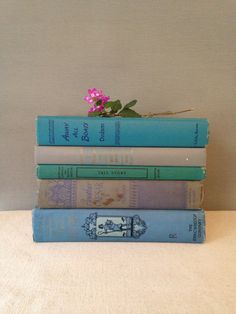 Blue Book Collection  Instant Library by MayaVintage on Etsy