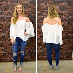 This white, cold- shoulder is perfect! - $45 #springfashion #spring  #fashionista #shoplocal #aldm #apricotlaneboutique #apricotlanedesmoines #shopaldm #desmoines #valleywestmall #fashion #apricotlane #newarrival  #shopalb  #ootd #westdesmoines  #shopapricotlaneboutiquedesmoines #ontrend