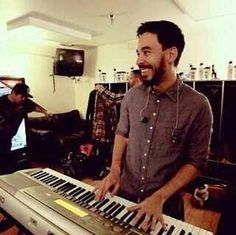 MIKE SHINODA Uh oh somebody is making Mike smile...