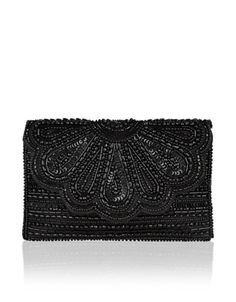 Molly Scalloped Clutch Bag | Black | Accessorize