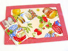 Hey, I found this really awesome Etsy listing at https://www.etsy.com/il-en/listing/264483889/retro-fruit-placemat-set-of-4-provencal