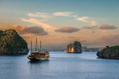 Halong Bay is unique in the world which according to legend was created when a dragon sent by the Jade Emperor jumped into the water waving its tail, forming deep valleys and crevasses. True or not, it is undeniable that this place is unforgettable.