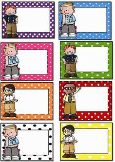 Badges for Kindergarten Children - Preschool Children Akctivitiys Polka Dot Classroom, Classroom Labels, Classroom Organisation, Classroom Rules, School Teacher, Pre School, Back To School, Polka Dot Labels, Student Name Tags