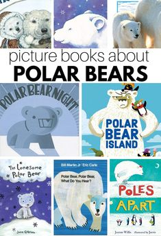 Find awesome books about polar bears in this booklist from no time for flash cards. Perfect for preschool and prek classrooms. Circle Time Activities, Literacy Activities, Winter Activities, Bear Cubs, Polar Bears, Tiger Cubs, Tiger Tiger, Bengal Tiger, Bear Island