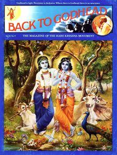 'Back to Godhead' magazine cover, 1975 Krishna Names, Acts Of Love, Names Of God, Hare Krishna, Life Goals, Gods Love, Awakening, Magazine, Cover
