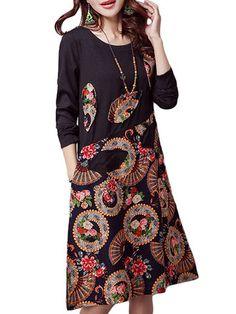 Folk Style Printed Patchwork www.newchic.com/
