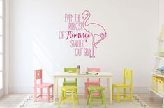 Flamingo vinyl wall decal for girl's nursery, bedroom, or playroom. Perfect for home decoration. Flamingo vinyl wall decal for girl's nursery, bedroom, or playroom. Perfect for home decoration.
