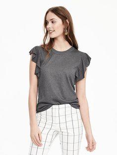 Sleeveless Ruffle Sweater Product Image