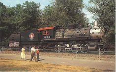 Great Northern steam locomotive in Woodland Park Zoo, circa 1960s | Flickr - Photo Sharing!