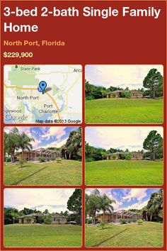 3-bed 2-bath Single Family Home in North Port, Florida ►$229,900 #PropertyForSale #RealEstate #Florida http://florida-magic.com/properties/12142-single-family-home-for-sale-in-north-port-florida-with-3-bedroom-2-bathroom