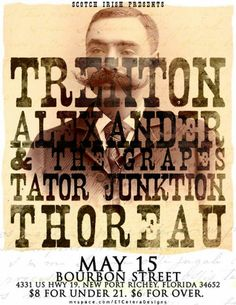 Trenton gig poster by Travis Cooper