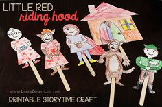Little Red Riding Hood- Free downloadable for a craft but also though it would be great to do as a flannel story