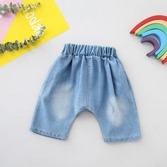 Micah Ripped Denim Pants from kidspetite.com!  Adorable & affordable baby, toddler & kids clothing. Shop from one of the best providers of children apparel at Kids Petite. FREE Worldwide Shipping to over 230+ countries ✈️  www.kidspetite.com  #toddler #clothing #girl #shorts Ripped Denim, Denim Pants, Jeans, Hot Dads, Toddler Girl Shorts, Daddys Little, Printed Shorts, Short Sleeve Tee, Style Guides