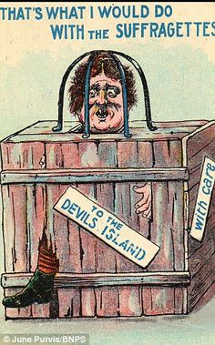 British anti-suffrage postcard - an unusualy nasty one.