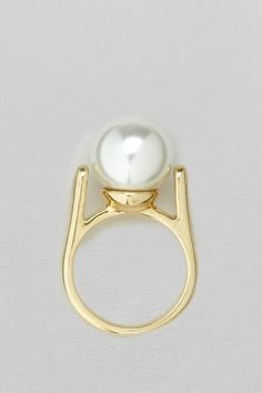 Glass Pearl Ring - Accessories - French Connection Usa