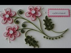 Quilling Made Easy # How to make Beautiful White & pink Flower using Pap...