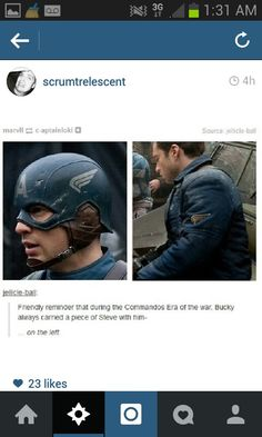 What people fail to point out is that this is the arm he lost. Steve's wing was replaced with the red star.