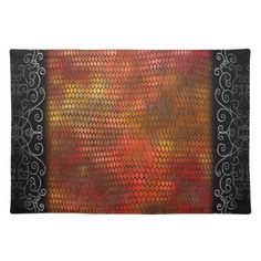 Orange shimmery metallic dragon scales pattern.