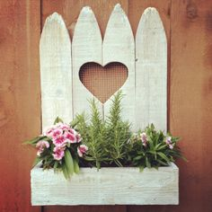 Heart Picket Wall Planter by wayneworks on Etsy, $42.00