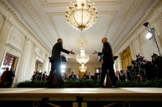 """March 24, 2015 """"Chuck Kennedy triggered a remote camera as the President concluded a joint press conference with President Ashraf Ghani of Afghanistan in the East Room of the White House."""" (Official White House Photo by Chuck Kennedy)"""