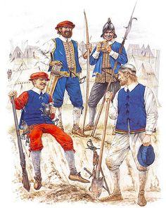• English caliverman  • Archer, York levies  • English billman  • English pioneer