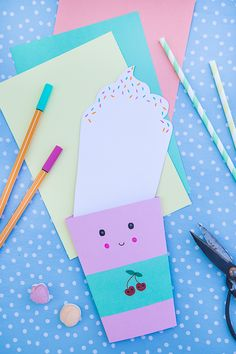 Birthday Party Invitations – Kawaii Party Tinker - Kids' Crafts for Diy and Crafts Diy Birthday Invitations, Surprise Party Invitations, Diy Birthday Decorations, Presents For Kids, Happy Birthday Cards, Card Birthday, Birthday Quotes, Birthday Ideas, Birthday Gifts