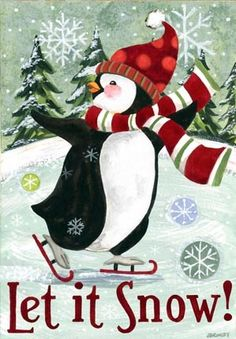 Christmas Penguin-Vertical by Jennifer Brinley | Ruth Levison Design