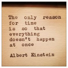 Albert Einstein Quote Typed on Typewriter and Framed von farmnflea, $10.00