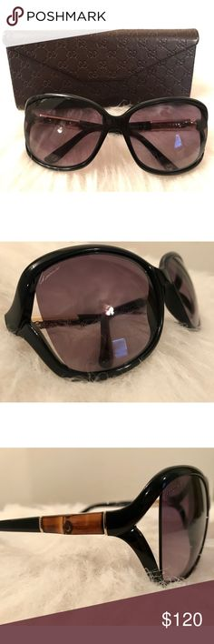 GUCCI Sunglasses ✨✨ Authentic Gucci Sunglasses 😎  Model GG 3671/S 6UBEU Black with bamboo detail on temples Gray/violet gradient lenses Measurements: 61-16-125 New/unused Comes with case & cleaning cloth Gucci Accessories Sunglasses