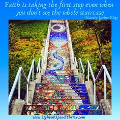 #TransitionQuotes Mosaic Stairs, San Francisco Sites, Tile Steps, Victorian Greenhouses, Take The First Step, California Travel, The Neighbourhood, Street Art, Wall Art