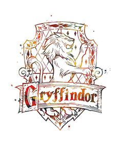 Harry Potter Mixed Media - Gryffindor Crest by Monn Print Dobby Harry Potter, Harry Potter Tattoos, Harry Potter Tumblr, Poster Harry Potter, Arte Do Harry Potter, Harry Potter Drawings, Harry Potter Houses, Harry Potter Pictures, Harry Potter Fandom