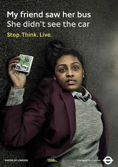 Advertising Campaign : Stop. Think. Campaign Advertising Campaign Inspiration Stop. Think. Campaign Advertisement Description Stop. Think. Campaign Sharing is caring ! Road Safety Slogans, Road Safety Poster, Safety Posters, Clever Advertising, Advertising Campaign, Drive Safe Quotes, Safe Drive, Road Traffic Safety, Dont Text And Drive