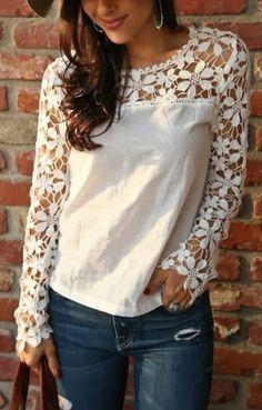 Cut Out Crochet Top