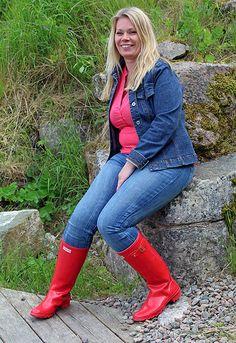Susanne in Red Hunter Wellies   Patrik   Flickr