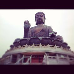 Big buddha temple in ngongping village. Lantau island. Hongkong. Nice place and view from here :)