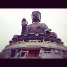 Big buddha temple in ngongping village. Lantau island. Hongkong. Nice place and view from here :)