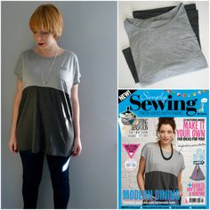 0d2ab25e03 Colour Block Tee Refashion - makery.uk Sewing Clothes