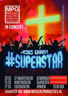 Jesus Christ Superstar in Concert by MPG © Purper Vormgeving Concert Posters, Movie Posters, Jesus Christ Superstar, Rock Music, Musicals, Jesus Christ, Film Poster, Rock, Gig Poster