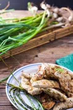Grilled Chicken Tenders are an easy summer dinner on the grill! This Garlic scape, lemon grilled chicken tenders is done in 15 minutes! Grilled Chicken Tenders, Easy Summer Dinners, Just Eat It, Fresh Garlic, Grilling Recipes, Salmon Burgers, Summer Recipes, Green Beans, Chicken Recipes