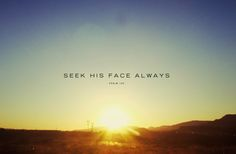 Seek Him Always // God's Fingerprints