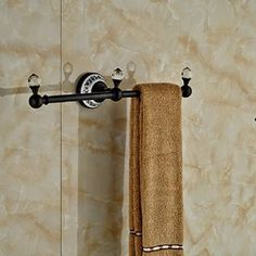 Amazon.com: Luxury Crystal Deco Bath Towel Bar Wall Mounted Towel Rac Hanger (Oil Rubbed Bronze): Home & Kitchen