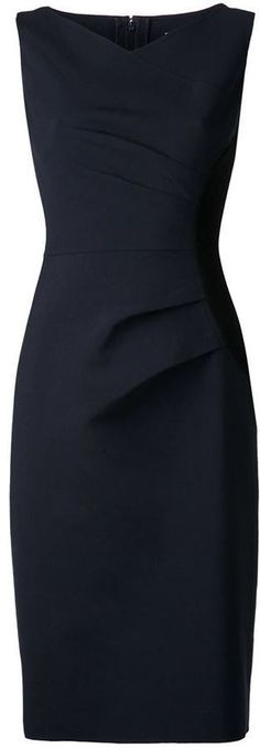 Work Outfit - Carolina Herrera gathered side panel dress, love her clothes and her perfume (my favorite)! Pretty Dresses, Beautiful Dresses, Dresses For Work, Dress Skirt, Dress Up, Panel Dress, Look Chic, Work Attire, Mode Style