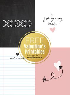 Hi there! Since we are celebrating LOVE this week here on the blog I thought it would be fun to create some more FREE printables for you! This time they are sweetand simple +include some hand drawn elements that I did!These are perfect for those of you looking for some easy last minute…
