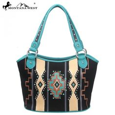 Montana West Western Aztec Collection Tote Handbag – Handbag Addict.com