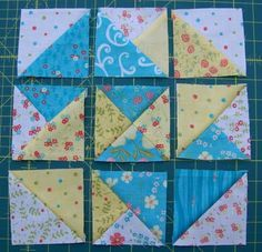 Fun quilt block. On my to-do list.--I've got the pattern book for this, but have never made. Very pretty here and easy to see all broken down.