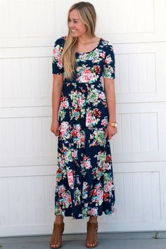 We are so excited about our gorgeous new floral maxi dresses!