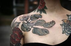 """alicecarrier: """"wonderlandtattoospdx: """" quince blossoms by alice kendall """" i got tattooed by the boss lady yesterday! by alice kendall, on me. follow all of us at..."""