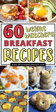 Make breakfasts the best part of the day with these delicious and easy Weight Watcher's Breakfast recipes (smart points included) Weight Watchers Breakfast, Weight Watcher Dinners, Delicious Breakfast Recipes, Easy Healthy Breakfast, Carb Free Dinners, How To Make Breakfast, No Carb Diets, Low Carb, Food