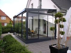 Pergola Attached To House Roof Outdoor Rooms, Outdoor Gardens, Outdoor Living, House Extension Design, House Design, Marquise, Earthship, House Extensions, Glass House